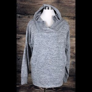 CATO Hoodie Grey Heather Pocket Sweater Large